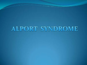 alports syndrome
